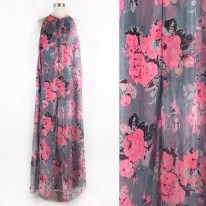 ASOS Curve | Floral Chiffon Flowy Maxi Dress